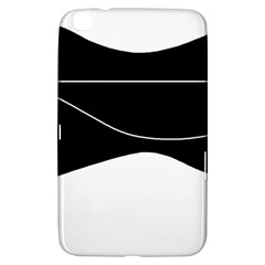 Black And White Samsung Galaxy Tab 3 (8 ) T3100 Hardshell Case  by Valentinaart