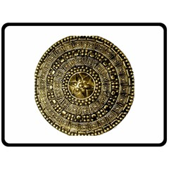 Gold Roman Shield Costume Double Sided Fleece Blanket (Large)  by Zeze