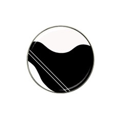 White And Black Abstraction Hat Clip Ball Marker (10 Pack) by Valentinaart