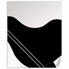 White And Black Abstraction Canvas 16  X 20   by Valentinaart