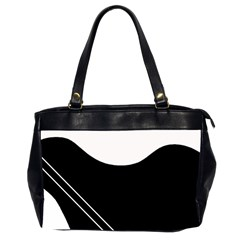 White And Black Abstraction Office Handbags (2 Sides)  by Valentinaart