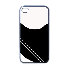 White And Black Abstraction Apple Iphone 4 Case (black) by Valentinaart