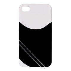 White And Black Abstraction Apple Iphone 4/4s Hardshell Case by Valentinaart
