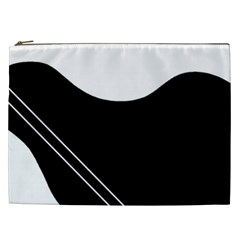 White And Black Abstraction Cosmetic Bag (xxl)  by Valentinaart
