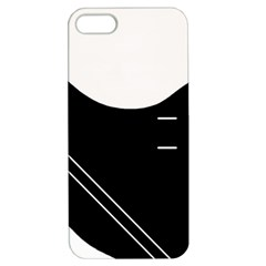 White And Black Abstraction Apple Iphone 5 Hardshell Case With Stand by Valentinaart