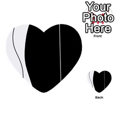 White And Black 2 Multi Purpose Cards (heart)  by Valentinaart
