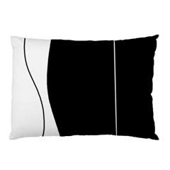 White And Black 2 Pillow Case by Valentinaart
