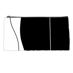 White And Black 2 Pencil Cases by Valentinaart
