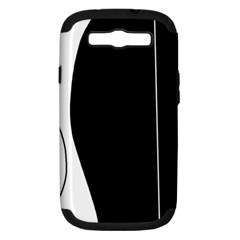 White and black 2 Samsung Galaxy S III Hardshell Case (PC+Silicone) by Valentinaart