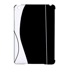 White And Black 2 Apple Ipad Mini Hardshell Case (compatible With Smart Cover) by Valentinaart