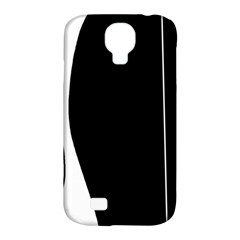 White And Black 2 Samsung Galaxy S4 Classic Hardshell Case (pc+silicone) by Valentinaart