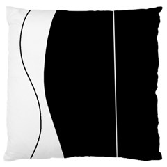 White And Black 2 Large Flano Cushion Case (one Side) by Valentinaart