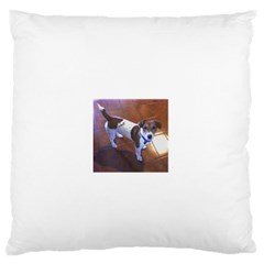 Jack Russell Terrier Full second Standard Flano Cushion Case (One Side) by TailWags