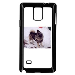Norwegian Elkhound Full second Samsung Galaxy Note 4 Case (Black) by TailWags