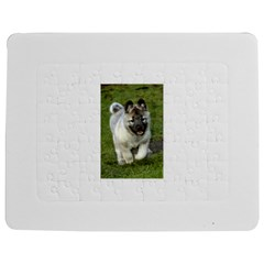 Norwegian Elkhound Puppy Jigsaw Puzzle Photo Stand (Rectangular) by TailWags