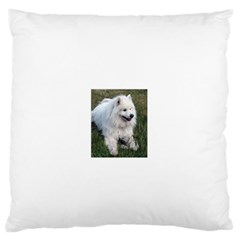 Samoyed Laying In Grass Standard Flano Cushion Case (Two Sides) by TailWags