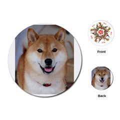 Shiba Inu Playing Cards (Round)  by TailWags