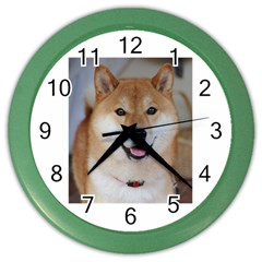 Shiba Inu Color Wall Clocks by TailWags