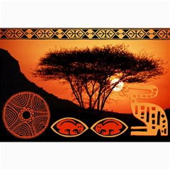 Africa Safari Summer Sun Nature Collage Prints by Zeze