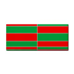 Christmas Colors Red Green White Hand Towel by Zeze