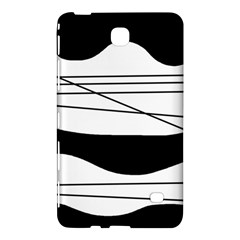 White and black waves Samsung Galaxy Tab 4 (8 ) Hardshell Case  by Valentinaart