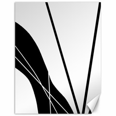 White And Black  Canvas 12  X 16   by Valentinaart
