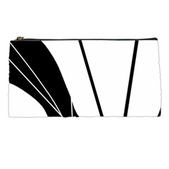 White And Black  Pencil Cases by Valentinaart