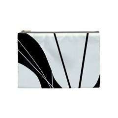 White And Black  Cosmetic Bag (medium)  by Valentinaart