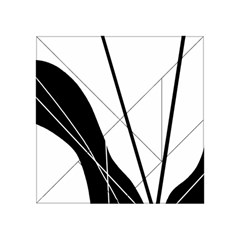 White And Black  Acrylic Tangram Puzzle (4  X 4 ) by Valentinaart