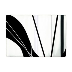 White And Black  Apple Ipad Mini Flip Case by Valentinaart