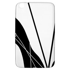 White And Black  Samsung Galaxy Tab 3 (8 ) T3100 Hardshell Case  by Valentinaart