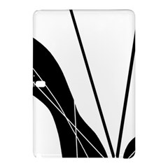 White And Black  Samsung Galaxy Tab Pro 10 1 Hardshell Case by Valentinaart