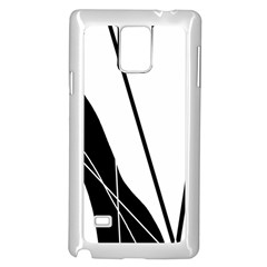 White And Black  Samsung Galaxy Note 4 Case (white) by Valentinaart