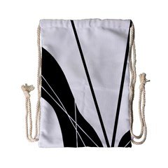 White And Black  Drawstring Bag (small) by Valentinaart