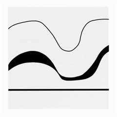 Waves   Black And White Medium Glasses Cloth (2 Side) by Valentinaart