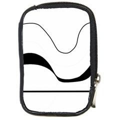 Waves   Black And White Compact Camera Cases by Valentinaart