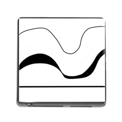 Waves   Black And White Memory Card Reader (square) by Valentinaart