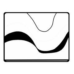 Waves   Black And White Fleece Blanket (small) by Valentinaart