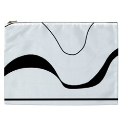 Waves   Black And White Cosmetic Bag (xxl)  by Valentinaart