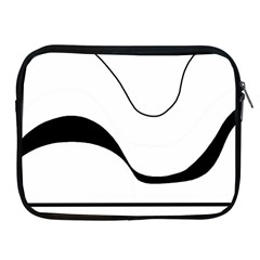 Waves   Black And White Apple Ipad 2/3/4 Zipper Cases by Valentinaart