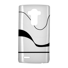 Waves   Black And White Lg G4 Hardshell Case by Valentinaart