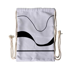 Waves   Black And White Drawstring Bag (small) by Valentinaart