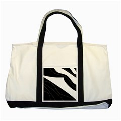 White And Black Decorative Design Two Tone Tote Bag by Valentinaart