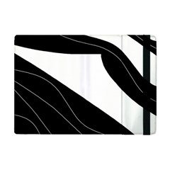 White And Black Decorative Design Apple Ipad Mini Flip Case by Valentinaart