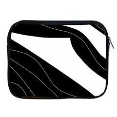 White And Black Decorative Design Apple Ipad 2/3/4 Zipper Cases by Valentinaart