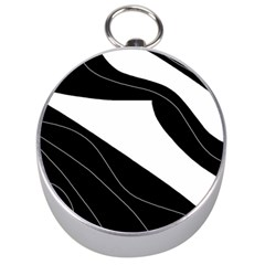 White And Black Decorative Design Silver Compasses by Valentinaart