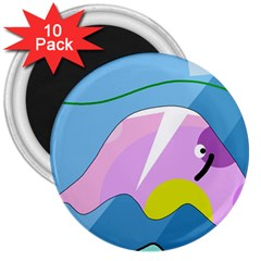 Under The Sea 3  Magnets (10 Pack)  by Valentinaart