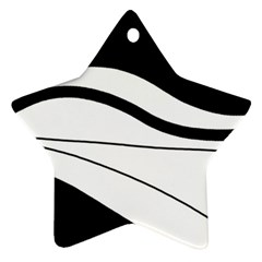 White And Black Harmony Ornament (star)  by Valentinaart