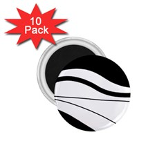 White And Black Harmony 1 75  Magnets (10 Pack)  by Valentinaart