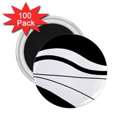 White And Black Harmony 2 25  Magnets (100 Pack)  by Valentinaart